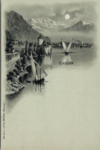 Chillon Switzerland Swiss UNUSED Postcard E45