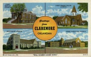 Will Roger's Home Town Claremore OK Unused