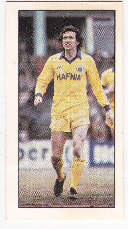 Trade Cards Geo. Bassett FOOTBALL 1980-81 No 26 John Gidman (Everton)