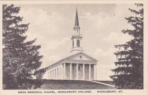 Vermont Middlebury Mead Memorial Chapel Middlebury College Albertype