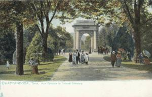 CHATTANOOGA, Tennessee, 1901-07 ; National Cemetery Main Entrance