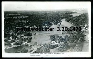1479 - BOBCAYGEON Ontario 1947 Aerial View. Real Photo Postcard