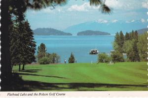 Post Card   United States - Montana Polson Golf Course and Flathead Lake