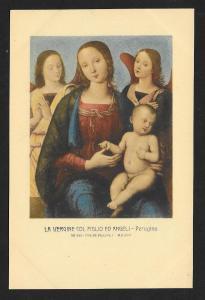 The Virgin Child & Angels Perugino Unused c1920s