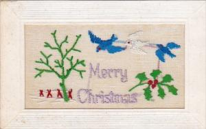 Christmas Beautiful Embroidered Flowers and Birds