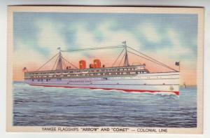 PC42 JL postcard yankee flagship arrow &comet colonial lines