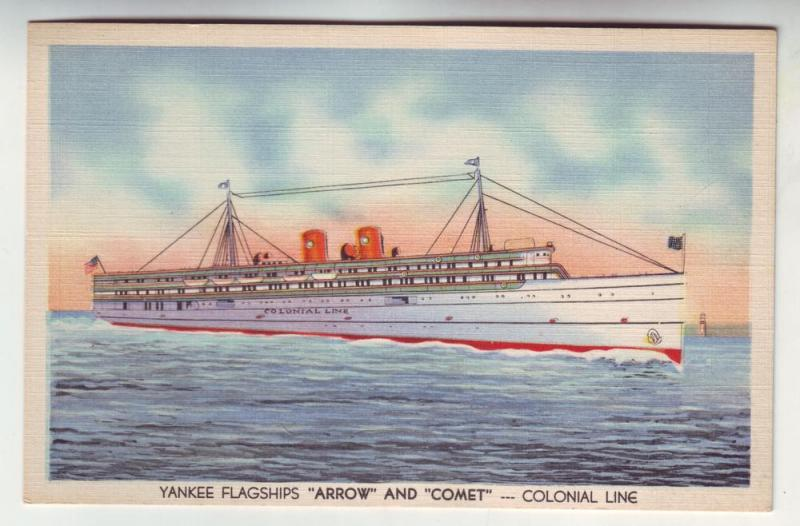 PC42 JL postcard yankee flagship arrow &comet colonial lines