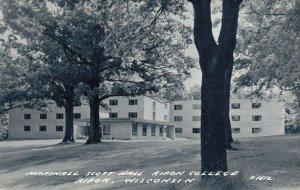 USA Marshall Scott Hall Ripon College Wisconsin RPPC 03.30