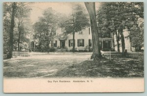 Amsterdam New York~Guy Park Historic Residence~Bad-mitten Net~c1910 Postcard