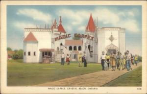 Crystal Beach Ontario Magic Carpet Attraction c1940s Postcard