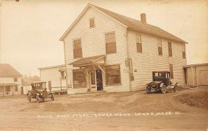 Congamond Lake MA Balch Bros. Store Old Truck & Car real photo postcard.​