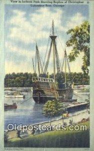 Jackson Park, Replica Of Christopher Columbus Boat, Chicago, Illinois, IL USA...