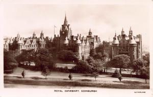 Royal Infirmary, Edinburgh, Scotland, Early Real Photo Postcard, Unused