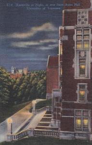 Ayres Hall, University of Tennessee, Knoxville at Night, 1930-40s
