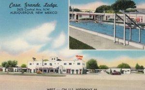 RT 66 ; Casa Grande Lodge , ALBUQUERQUE , New Mexico , 50-60s