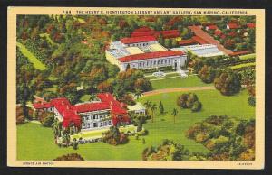 Henry Huntington Library Air View San Marino CA Used c1936
