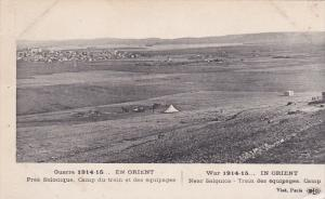 FRANCE, 1910's; War 1914-1915, In Orient Near Salonica, Train Des Equipages, ...
