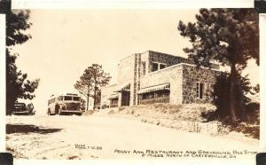 Cartersville GA~Greyhound Depot Bus Stop~Peggy Ann Restaurant~1940s Cline RPPC
