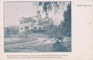 California Hollywood Home Of M Paul Longpre This Picture Taken And Finished B...