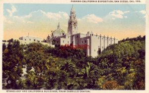 ETHNOLOGY & CALI BUILDINGS FROM CABRILLO PANAMA-CALIFORNIA EXPO SAN DIEGO 1915