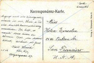 Wien Vienna Austria 1908 Postcard Nordbahnhof Train Station Posted to USA