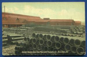 Anniston Alabama al United States Cast Iron Pipe Foundry Company old postcard