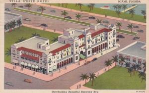 Florida Miami Ville D'Este Hotel 1952 Curteich