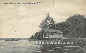 Boyds Boat House Highland Lake (Venoge, 1897 - 1911) NY 1914