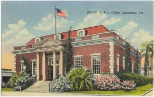 Linen of Post Office in Kissimmee Florida FL