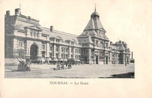 Tournai Belgium Train Station Antique Postcard J48803