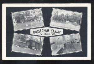 FALL CREEK WISCONSIN MILLSTREAM CABINS RESORT MULTI VIEW VINTAGE POSTCARD