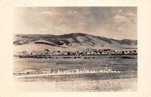 G28/ White Sulpher Springs Montana RPPC Postcard c1950 Homes Mountain 2
