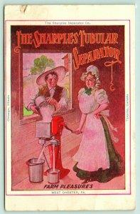 West Chester PA~Sharples Tubular Cream Separator~Farm Pleasures~Couple~1905 Adv