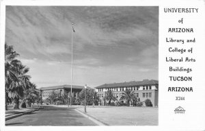 Frasher 1940s University of Arizona RPPC Photo Postcard Library Liberal 9338