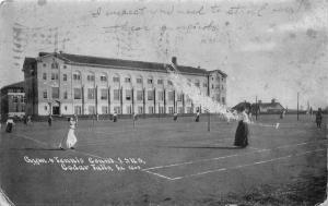 Cedar Falls Iowa~State Normal School~Gym & Tennis Courts~Ladies Playing~1910