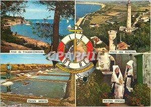 Modern Postcard Ile de Re Ch Ms. Anse Kit Whale Lighthouse Shirt Saltmarsh ma...