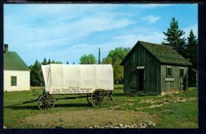Replica of the First School Bus in Wisconsin,Port Wing,WI BIN