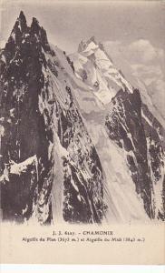France Chamonix Aiguille du Plan et Aiguille du Midi