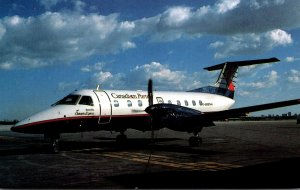 Ontario Express Embraer 120RT Brazilia At Lester B Pearson International Airp...