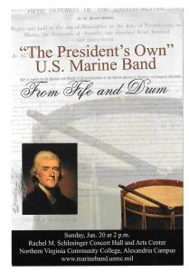 United States Marine Band Concert From Fife and Drum Advert