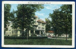 Masonic Home Montgomery Alabama al old postcard