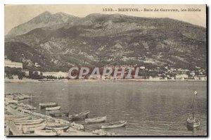 Old Postcard Menton Garavan Bay the Hotels