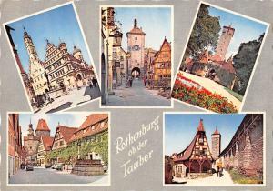 GG12953 Rothenburg ob der Tauber Rathaus, Turm Tower Brunnen Auto Cars
