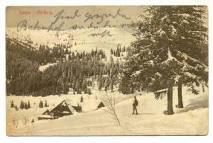 Man Standing On The Snow, Rinken, Feldberg (Baden-Württemberg), Germany, 190...