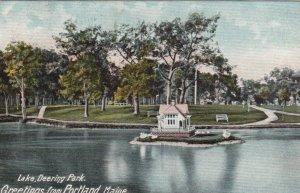 PORTLAND, Maine, 1907; Greetings, Lake, Deering Park