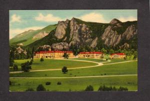 CO Stanley Hotel Estes Park Rocky Mountain National Park Colorado Postcard Linen