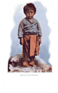 #219 Young Warrior, Undivided Back, pre-1907