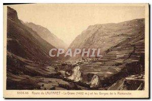 Old Postcard Route du Lautaret La Grave and the Gorges of the Romanche