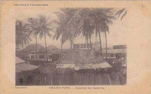 DAHOMEY ; PU-1904, GRAND POPO , Quartier des factories
