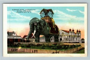 Atlantic City NJ-New Jersey, Elephant Hotel, Margate City, Vintage Postcard